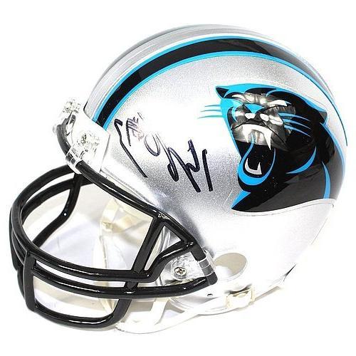 Kelvin Benjamin Signed Carolina Panthers Mini Helmet - JSA C