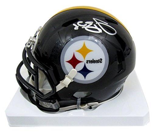 Le'Veon Bell Steelers Autographed/Signed Speed Mini Helmet J