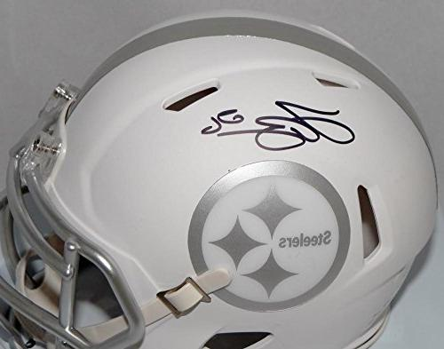 LeVeon Autographed Steelers ICE Speed Helmet- JSA