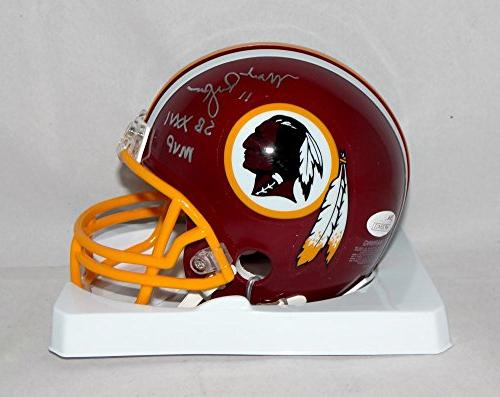 Mark Rypien Autographed Washington Redskins Mini Helmet W/ S