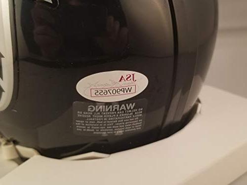 Michael Vick Autographed Signed Mini Helmet Atlanta JSA