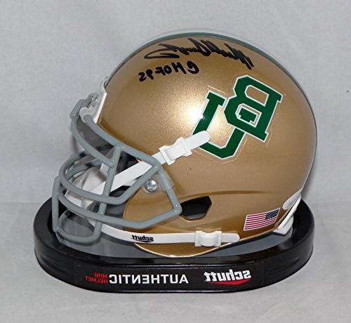 Mike Singletary Signed Baylor Bears Gold Schutt Mini Helmet