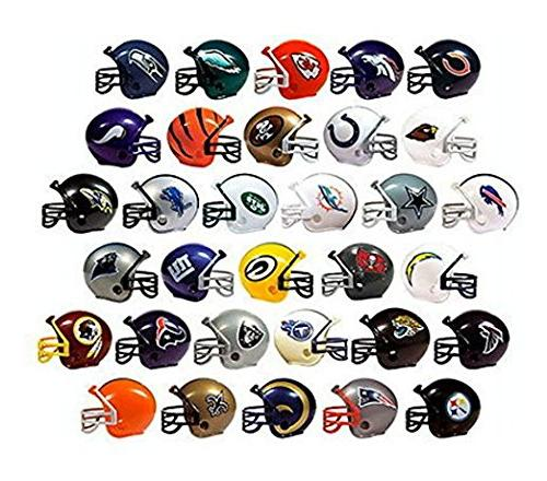 NFL Collectible 32 Teams Mini Helmets Set, 2-inch Each