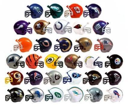 "NFL FOOTBALL SET of 32 TEAM 2"" VENDING HELMETS - NFL Footbal"