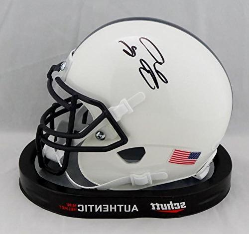 JSA Witnessed Auth Saquon Barkley Autographed Penn State Schutt Mini Helmet