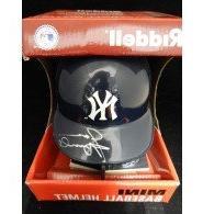 Signed Arnold, Jason  Riddell New York Yankees Mini Helmet a