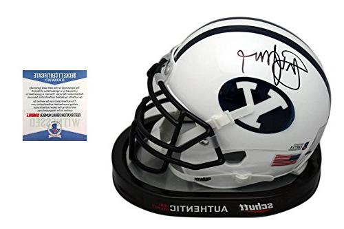 Steve Young Signed BYU Cougars Mini-Helmet - Beckett - Autog
