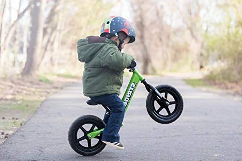Strider Balance Bike, Months Green
