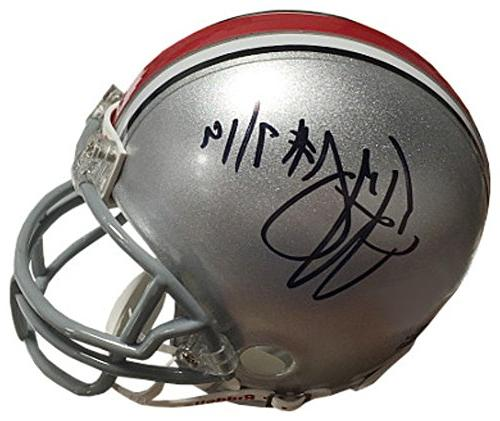 Ted Ginn, Jr. Signed Autograph Ohio State Buckeyes Riddell M