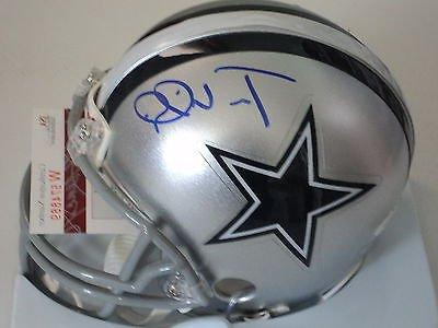 Terrance Williams signed Cowboys mini helmet, JSA Witness