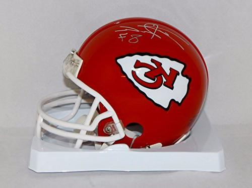 Travis Kelce Autographed Kansas City Chiefs Mini Helmet- JSA