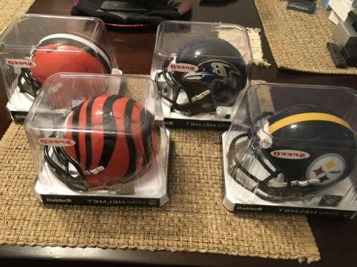 afc north mini helmet set