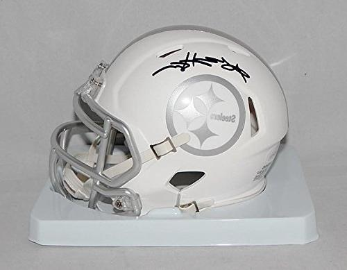 antonio brown signed pittsburgh steelers ice mini