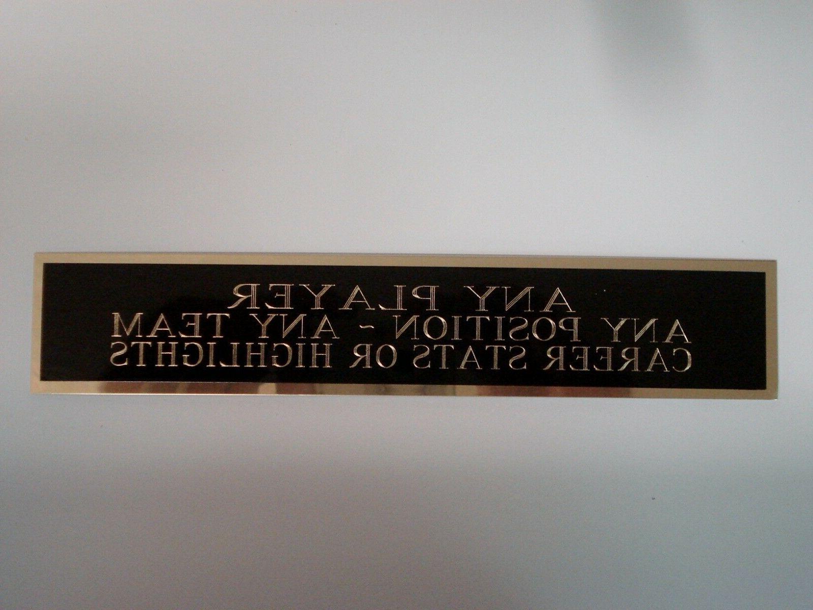Football Mini Helmet Display Case Engraved Nameplate