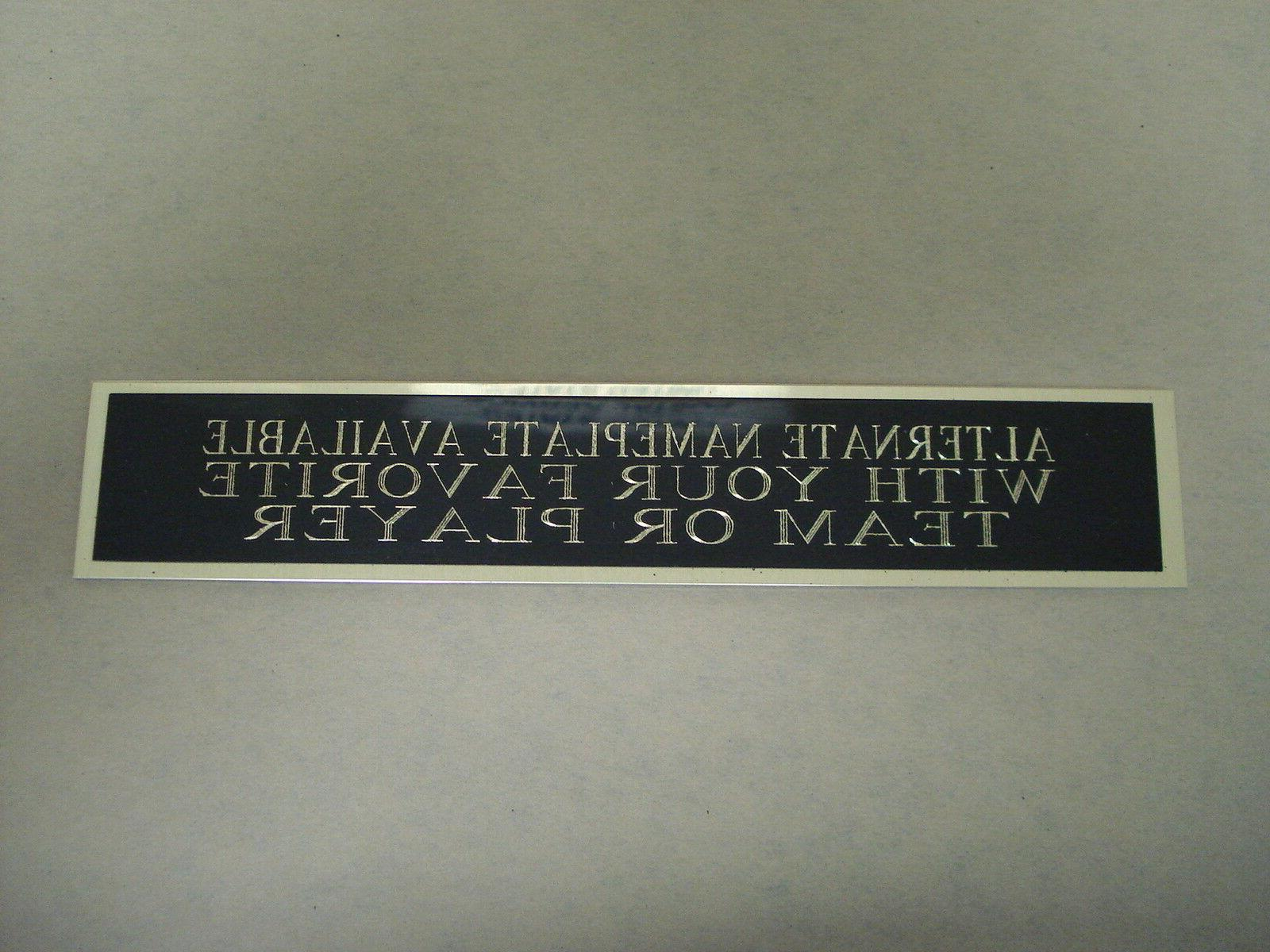 Any Player Team Football Display Case Nameplate