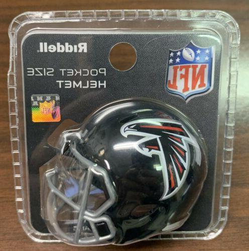 atlanta falcons pocket pro mini football helmet