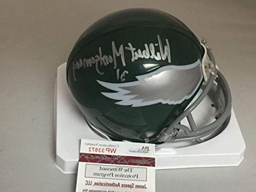 autographed signed wilbert montgomery philadelphia eagles fo