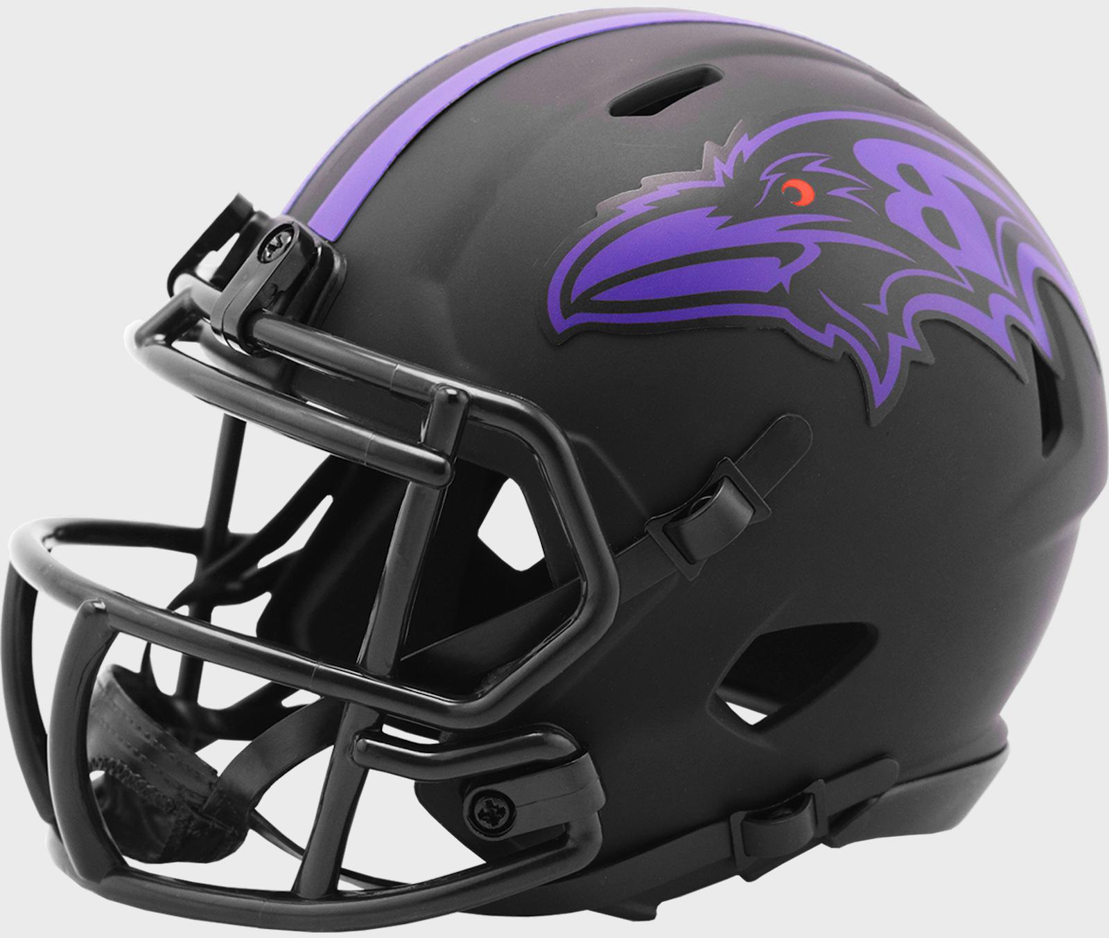 BALTIMORE RAVENS NFL Riddell SPEED Mini Football Helmet BLAC