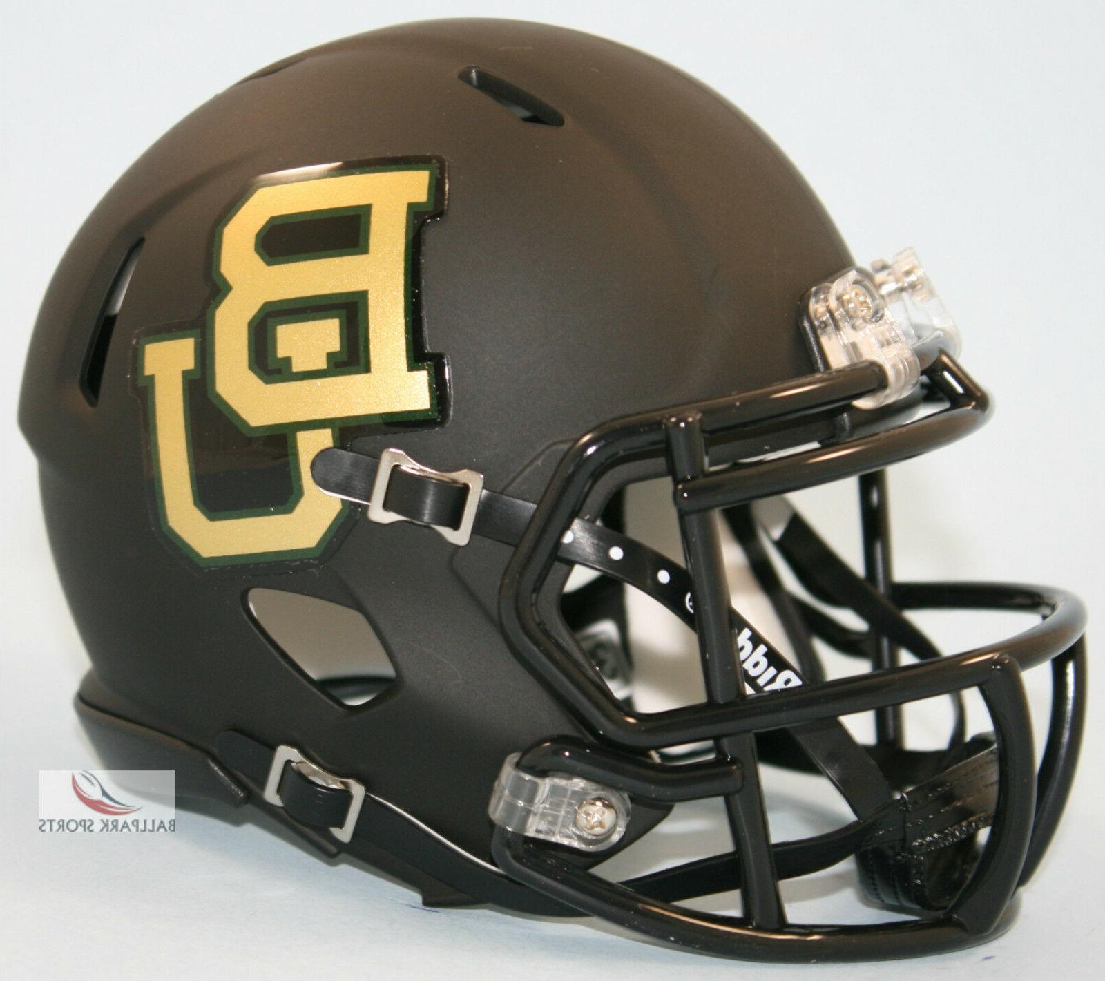 baylor bears matte black speed mini helmet