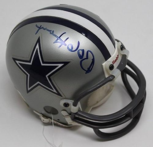 bob hayes signed mini helmet