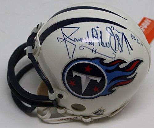 bud adams signed mini helmet