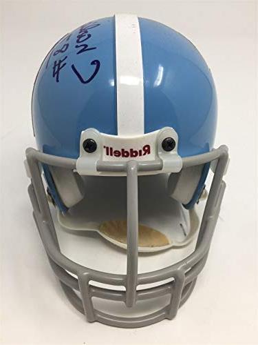 Charlie Autographed Mini Helmet Oilers AFL