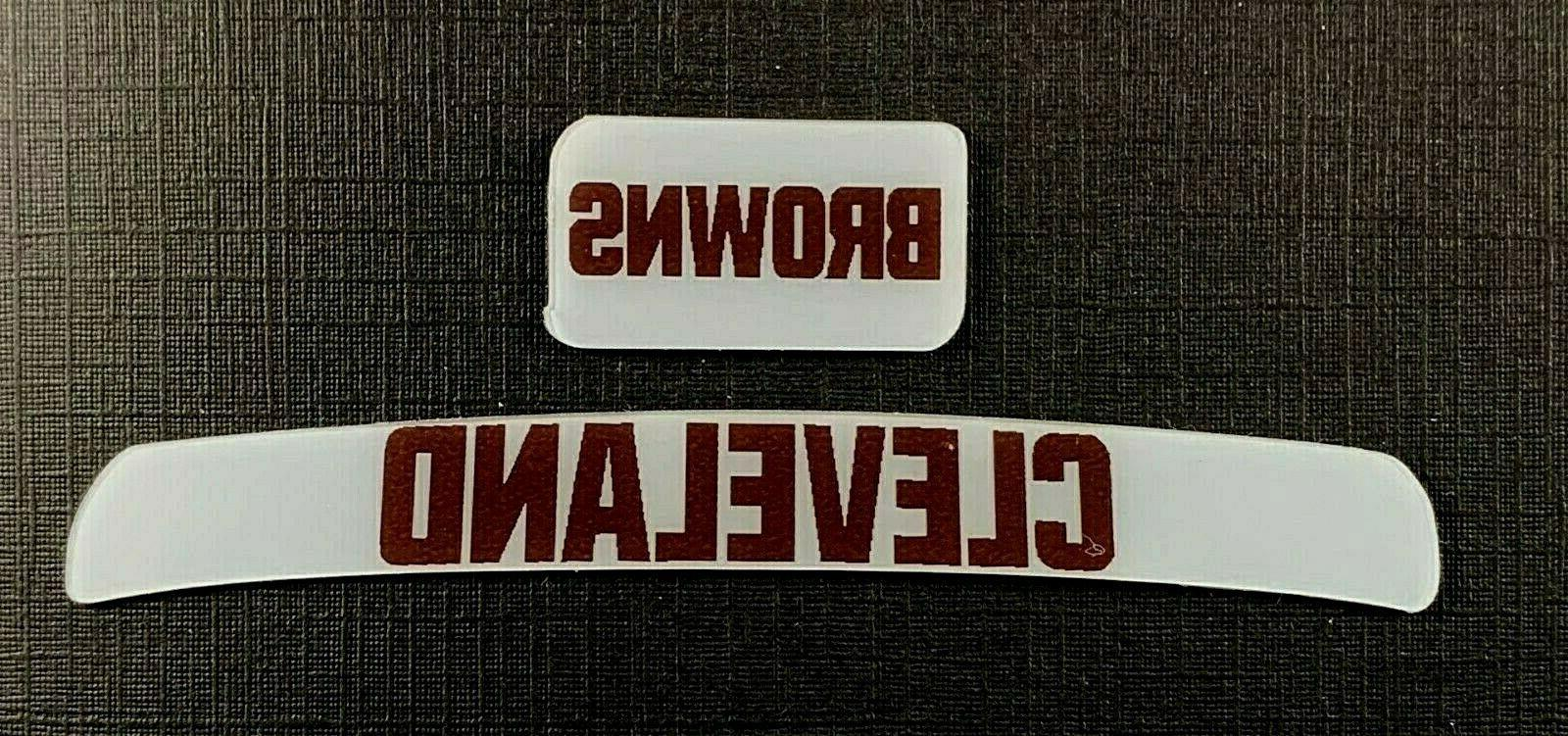 cleveland browns mini helmet decal set new