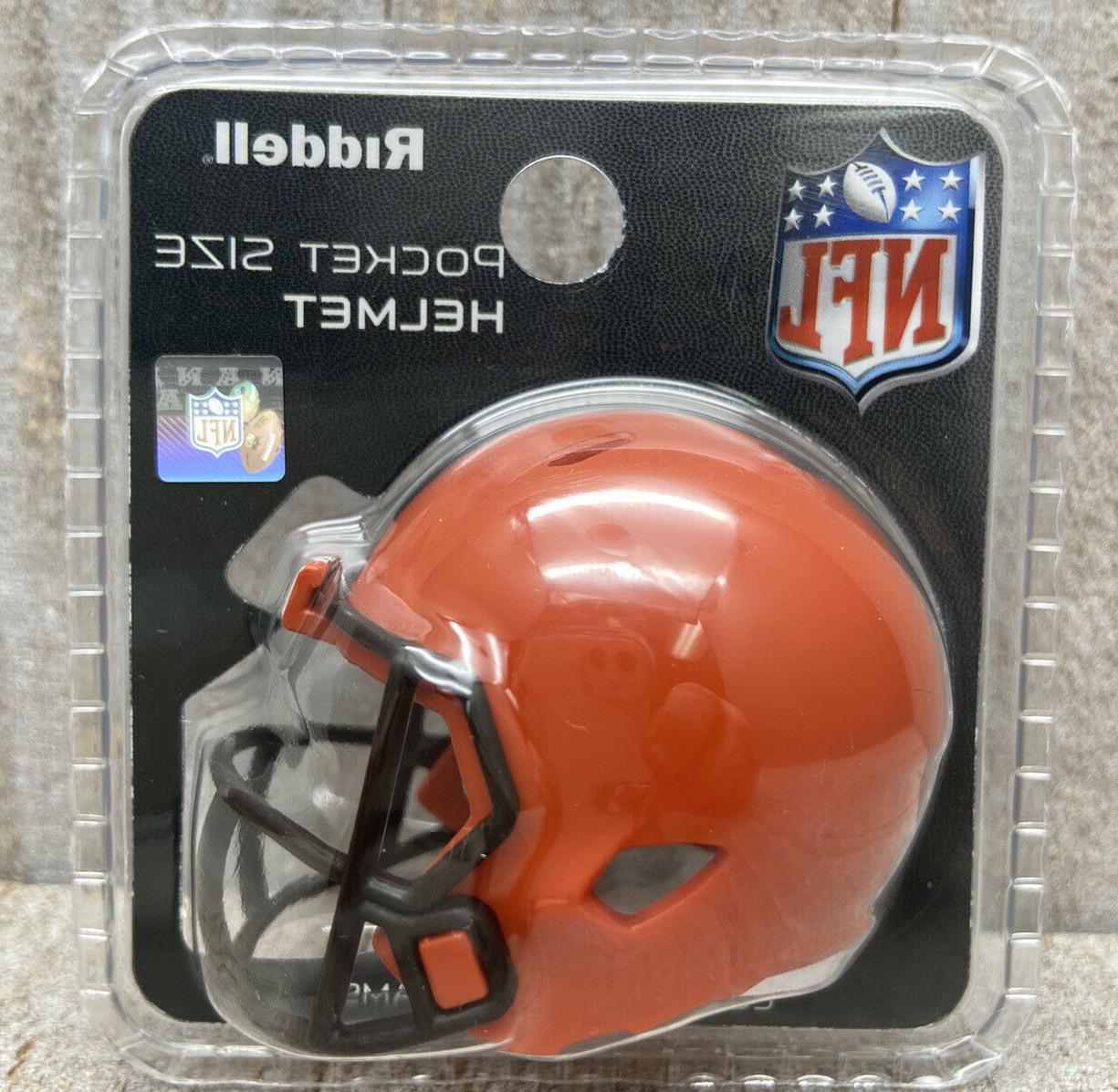 cleveland browns speed pocket pro mini helmet
