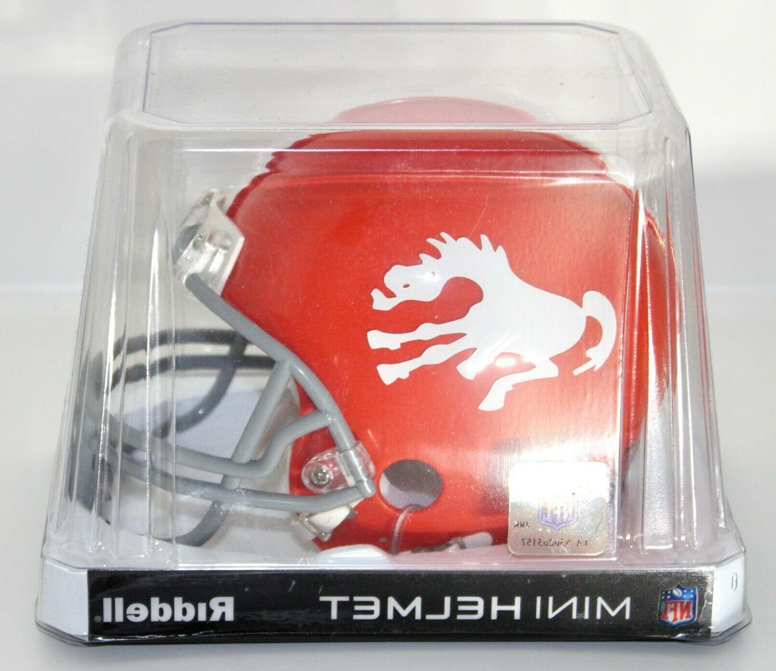 denver broncos nfl throwback mini football helmet