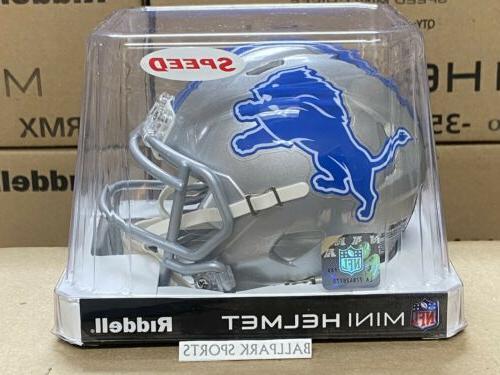 detroit lions speed mini helmet 2017