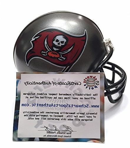 Doug Signed Autographed Tampa Mini Helmet Schwartz