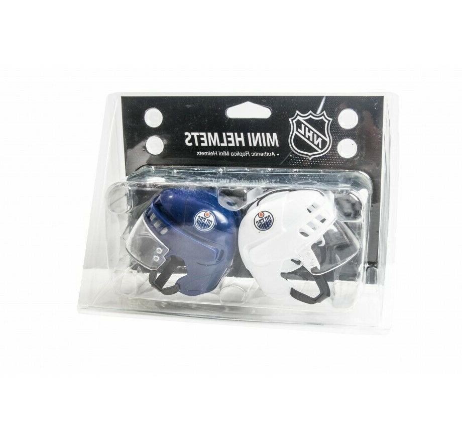 edmonton oilers nhl hockey mini helmets authentic