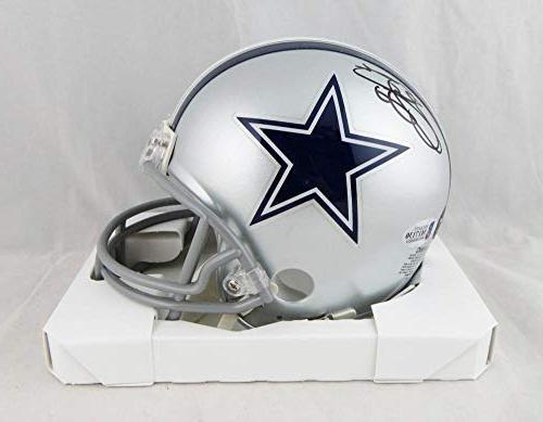 emmitt smith autographed dallas cowboys mini helmet