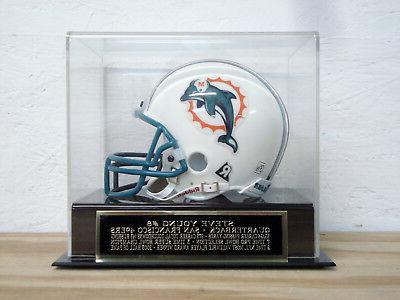 football mini helmet display case w a
