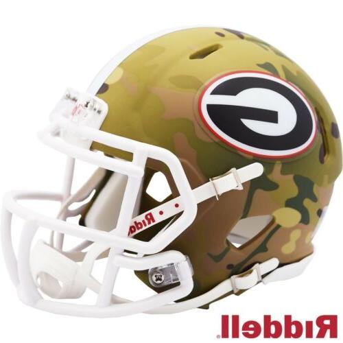 georgia bulldogs camo alt speed mini helmet