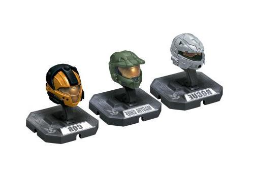 HALO Helmet 3PKs Series 1 - Set 3: Master Chief , Rogue , CQ