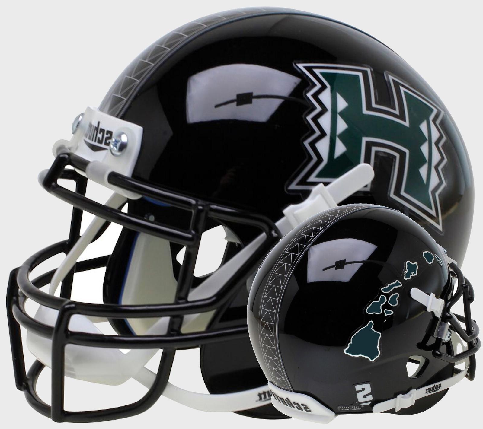 hawaii warriors ncaa xp authentic mini football