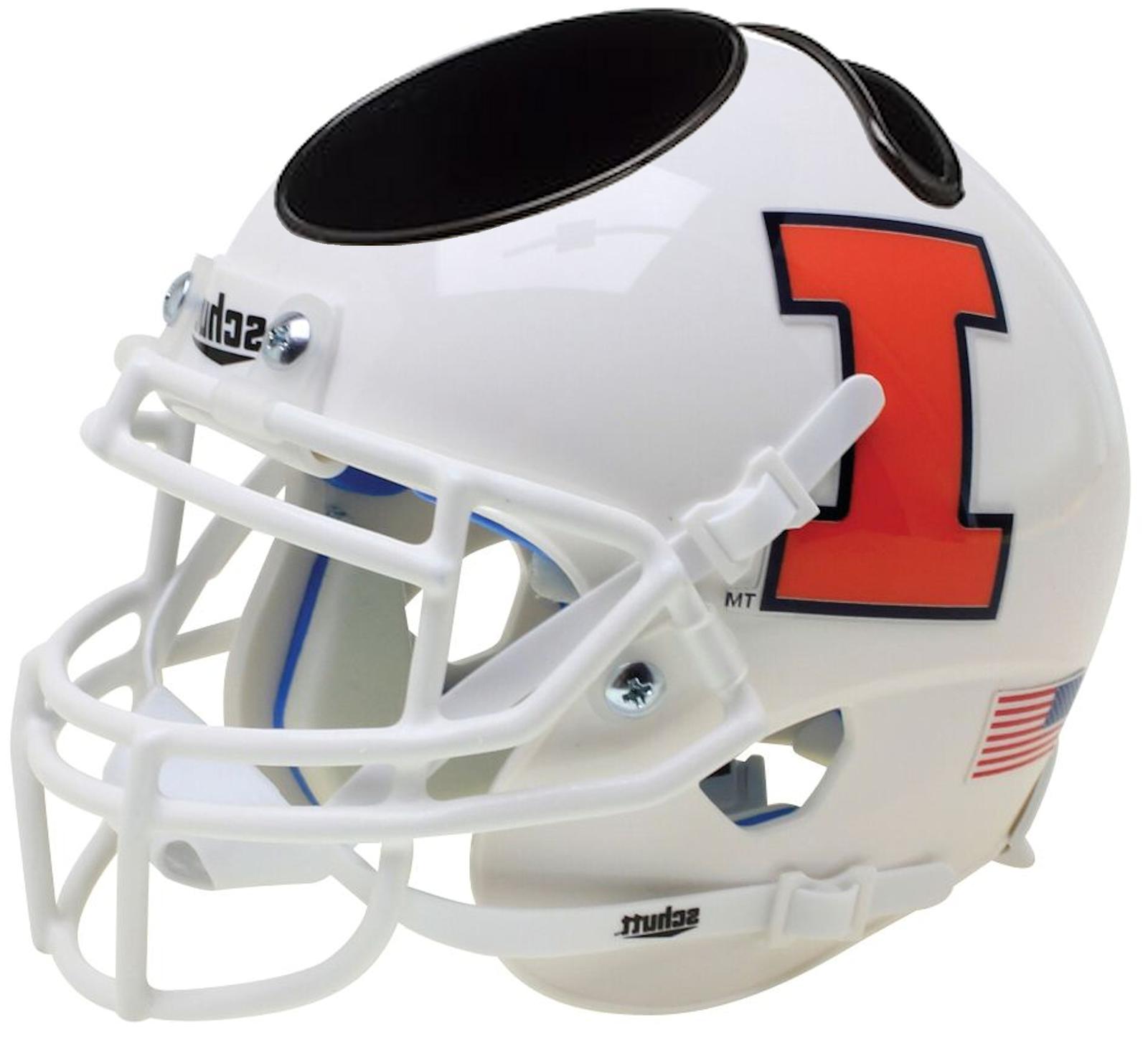 ILLINOIS FIGHTING ILLINI NCAA Schutt Mini Football Helmet DE