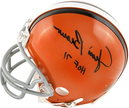 jim brown cleveland browns autographed