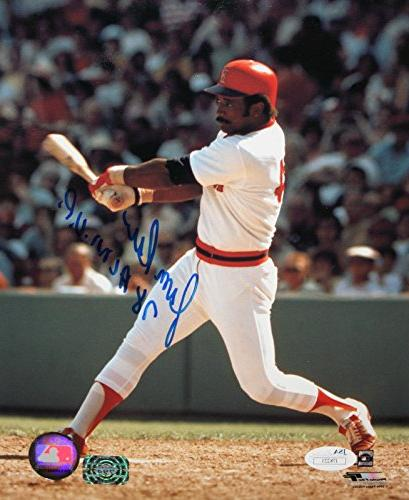 jim rice autographed swinging red