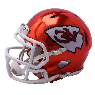 6f84a888 Kansas City Chiefs Mini Helmet Riddell NFL Alternate Speed Chrome Red