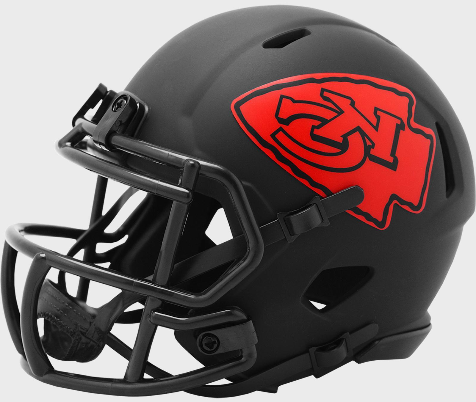 KANSAS CITY CHIEFS NFL Riddell SPEED Mini Football Helmet BL