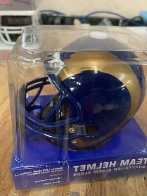 Los Angeles LA RAMS Football Helmet Jersey Alarm Clock NFL D