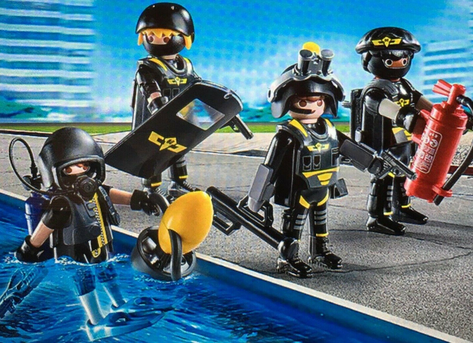 M~9365-CHOOSE 1 PLAYMOBIL Police Mini: w/ GOGGLES