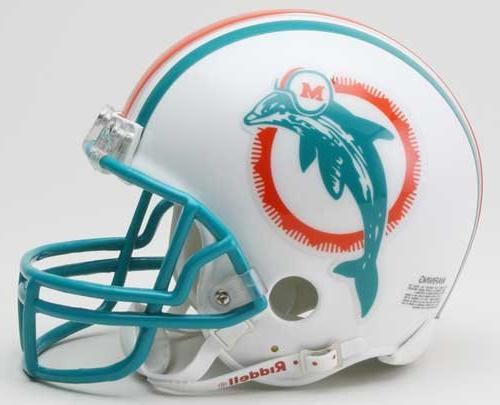 online retailer a6935 5ef4c Miami Dolphins 1997-2012 Throwback Riddell Mini Football Helmet