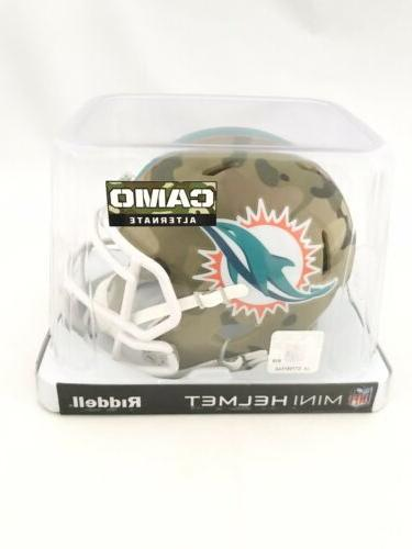 miami dolphins unsigned camo speed alternate mini