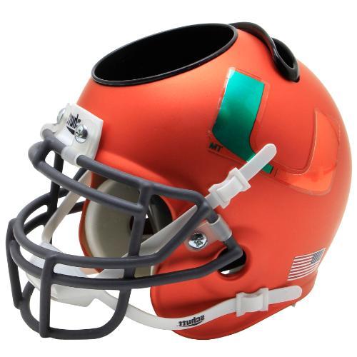 miami hurricanes green alt mini helmet desk