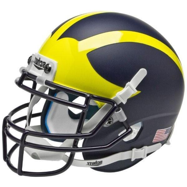 new michigan wolverines matte blue mini football