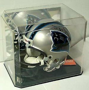 mini helmet display case deluxe with mirror