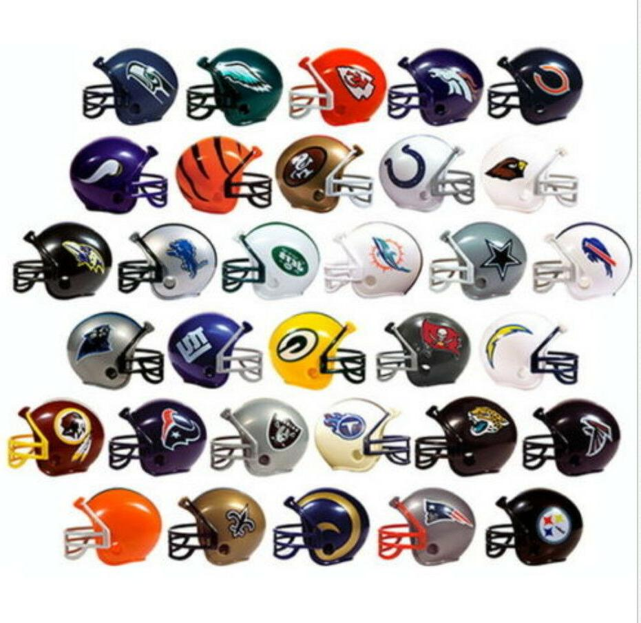 MINI NFL FOOTBALL HELMETS, COLLECTIBLE COMPLETE SET OF ALL 3
